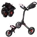 Bag Boy Nitron 3-Rad Trolley schwarz/rot