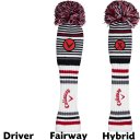 Callaway Vintage Pom Pom Headcover weiss/rot