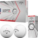 Callaway Chrome Soft X LS Golfball 3er weiss