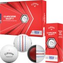 Callaway Chrome Soft Triple Track Golfball 3er weiss