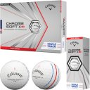 Callaway Chrome Soft X LS Triple Track Golfball 3er weiss