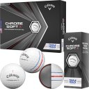 Callaway Chrome Soft X Triple Track Golfball 3er weiss