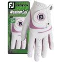 Footjoy WeatherSof Damengolfhandschuh weiss/pink