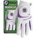 Footjoy WeatherSof Damengolfhandschuh weiss/violett