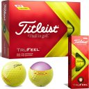 Titleist TruFeel 12er Pack gelb