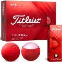 Titleist TruFeel 12er Pack rot