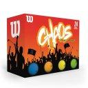 Wilson Chaos Golfbälle 24er farblich gemischt