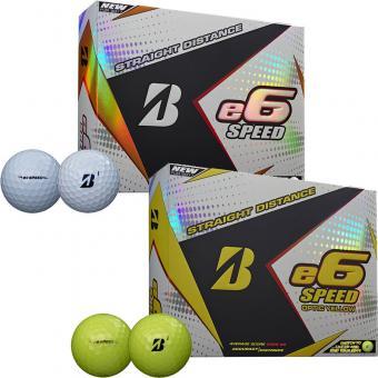 Bridgestone e6 Speed Golfbälle 60er Pack weiss weiss