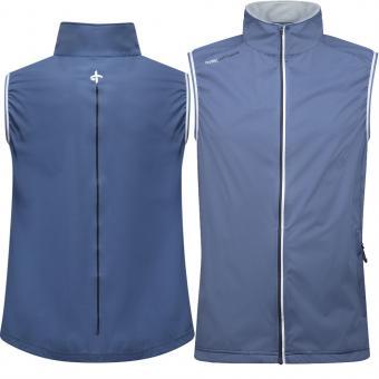 Cross M Wind Vest Herren Windbreaker 1/4 Zip blau