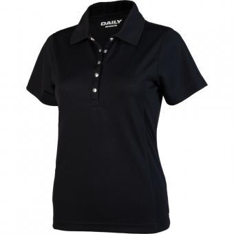 Daily Golf Macy Damen Polo schwarz