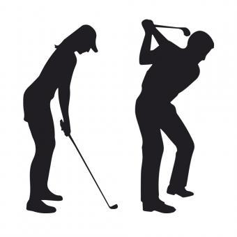 Golfaufkleber Golfspieler / Golfspielerin