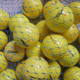 Golf und Günstig Lakeballs Titleist DT SoLo 25er Netz Qualität AAA/AA