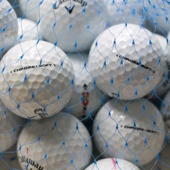Golf und Günstig Lakeballs Callaway Chrome Soft 25er Netz Qualität AAA/AA