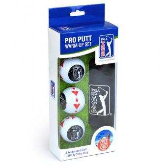 Golf und Günstig PGA Pro Putt Warm up Set 3 Bälle+ Beutel
