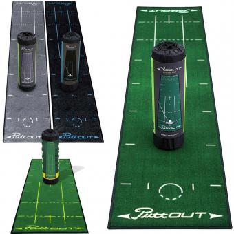 Golf und Günstig PuttOUT Golf Puttingmatte 2,4 x 0,50m