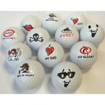 Golfball verschiedene Logos