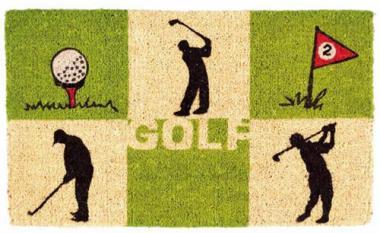 Sportiques Golfgeschenk Kokos-Fussmatte