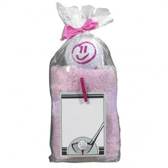 Sportiques Golfgeschenk Handtuch-Ball pink Happy Face