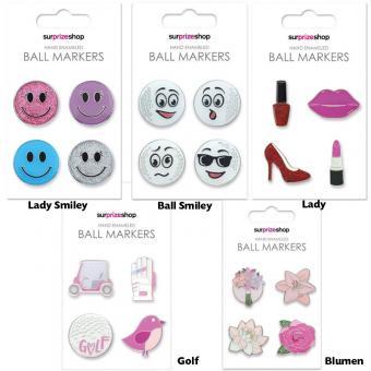 Golf und Günstig Ladies Ball Marker Set