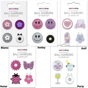 Golf und Günstig Ladies Ball Marker Set inkl. Clip
