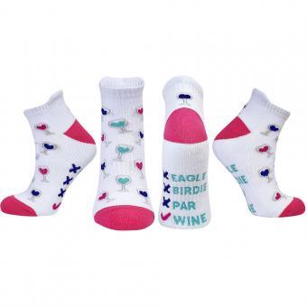 Golf und Günstig Ladies Golf Socken Weinslogan
