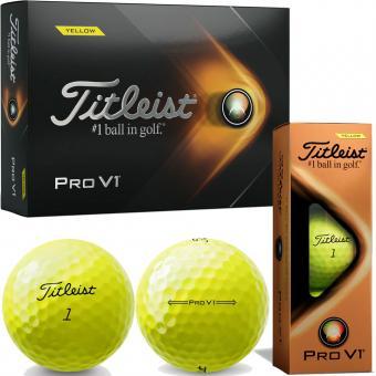 Titleist Pro V1 2021 3er Packung gelb