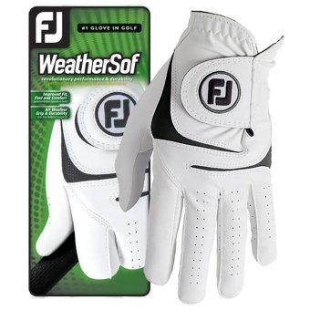 Footjoy WeatherSof Herrengolfhandschuh weiss linke (Rechtshänder) | M
