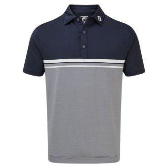 Footjoy Golf Jersey Stretch Polo navy/weiss (84466) L
