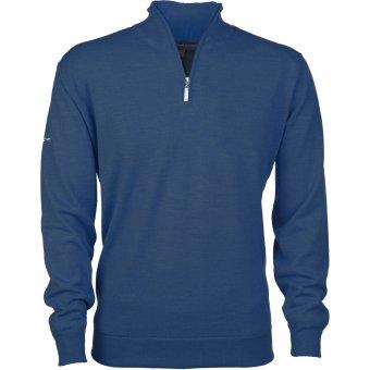 Greg Norman Merino 1/2 Zip Pullover winddicht blau XXL