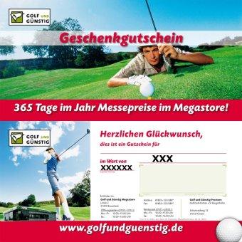 'Golf und Günstig' Geschenkgutschein