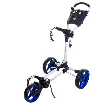 Fast Fold Slim 3-Rad Trolley weiss/blau 1