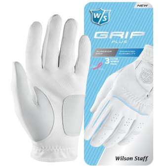 Wilson Staff Grip Plus Damen Handschuh 3er Pack linke (Rechtshänder) | S