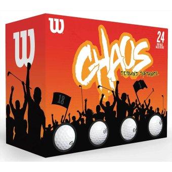 Wilson Chaos Golfbälle 24er weiss 1