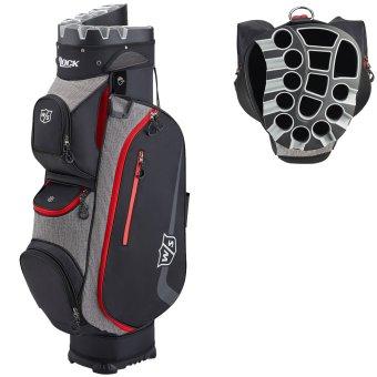 Wilson Staff I-Lock 3.0 Cart Bag schwarz/grau/rot 1