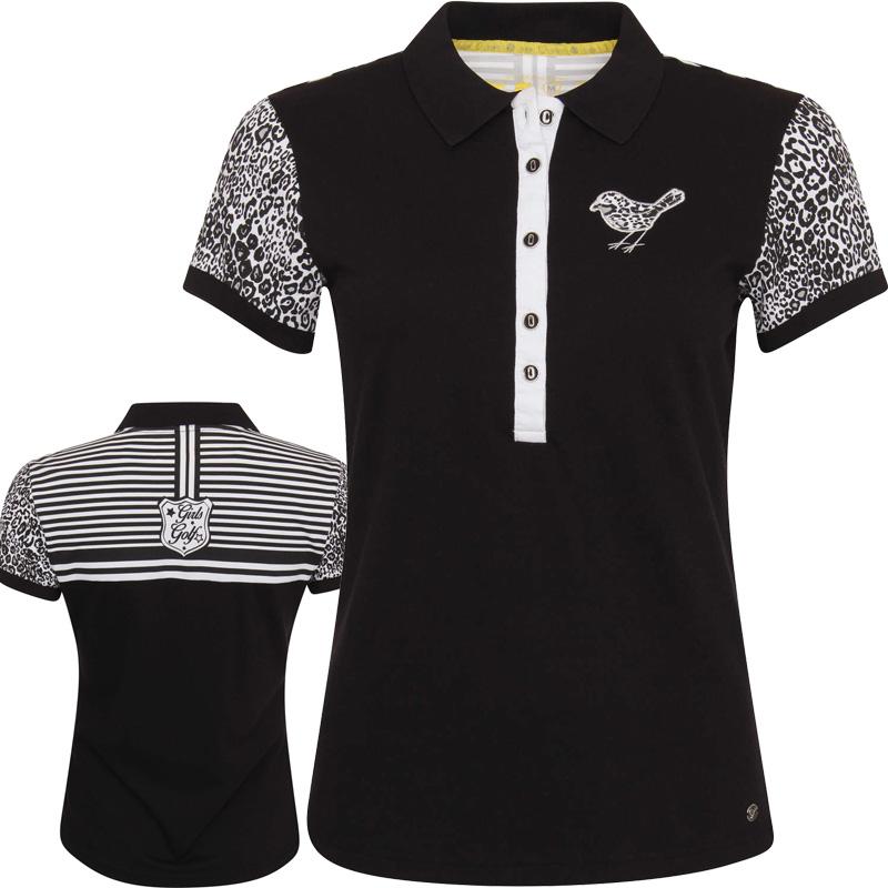 girls golf leo damen polo 12109 m golf g nstig. Black Bedroom Furniture Sets. Home Design Ideas